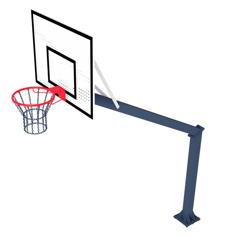 Стійка Баскетбольна ТРЕША™ 1200х900 мм Fiba. (Виліт 2,25 м)