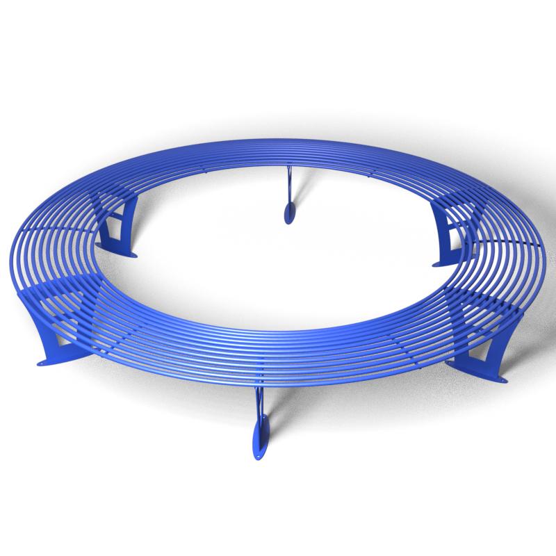 Лавка без спинки кругла ПРАЙМ (Ф-2500 мм)