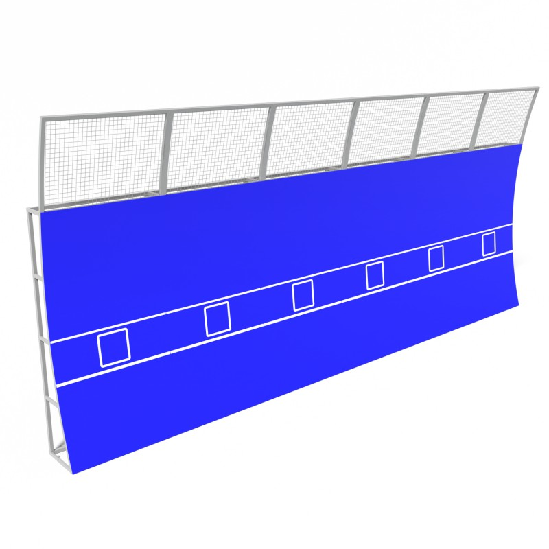 Тенісна Стінка Тренувальна 9.0 м. TSM.0001.6 (Модульна)