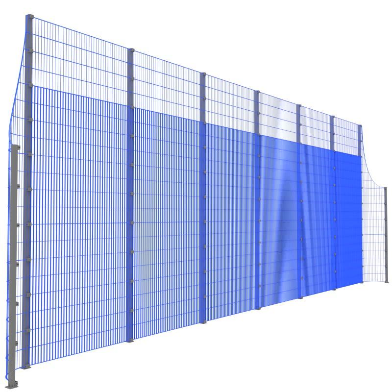Модуль Спортивного Огородження ТРЄША™ з радіусними кутами (L13хH5-3)