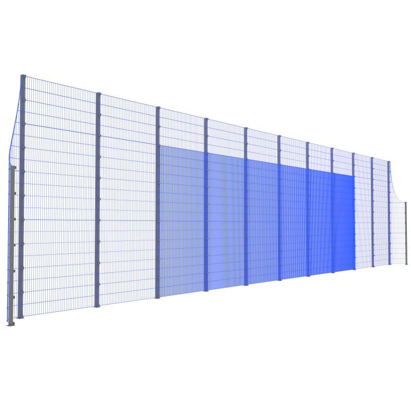 Модуль Спортивного Огородження ТРЄША™ з радіусними кутами (22х5-3)