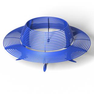 Скамейка со спинкой круглая ПРАЙМ (Ф-2500 мм)