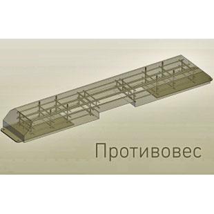 Модульний навіс ТРЕША™  для 2 автомобілів 6х5м (монтаж на противаги)