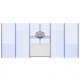 Модуль Спортивного Огородження ТРЄША™ мульти ігровий ударостійкий (12х5)