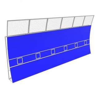 Теннисная Стенка Тренировочная 9.0 м. TSM.0001.6 (Модульная)