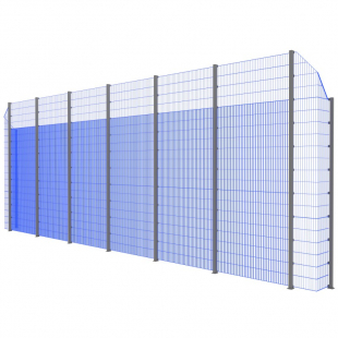 Модуль Спортивного Огородження ТРЄША™ з кутами 90° (L13хH5-4)