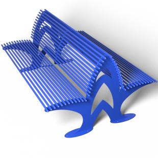 Скамейка со спинкой двухсторонняя ПРАЙМ