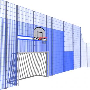 Спортивна Огорожа ТРЄША™ 18х36 (H5х3м) ударостійкий антивандальний комплект з модулями воріт
