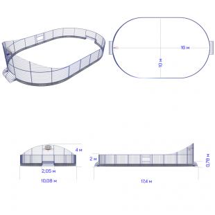 Модульний Спортмайданчик ТРЄША™ 10х16м (Компакт)