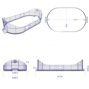 Модульний Спортмайданчик ТРЄША™ 8х15м (Компакт2)
