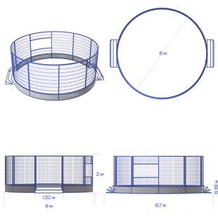 Модульний Спортмайданчик Арена ТРЄША™ Ф-6 м для панна футбола та юки