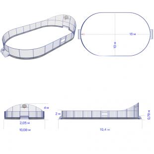 Модульний Спортмайданчик ТРЄША™ 10х18м (Компакт)