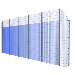 Модуль Спортивного Огородження ТРЄША™ з кутами 90° (11х5-4)