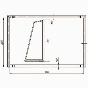 Ворота Мініфутбол-Гандбол ТРЕША™ (3х2м трансформер)