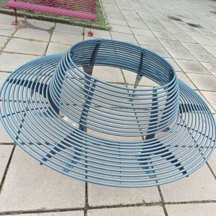 Лавка зі спинкой кругла ПРАЙМ  (Ф-2500 мм)