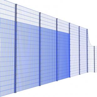Спортивна Огорожа ТРЄША™ 20х40 (H5х3м) ударостійкий антивандальний комплект