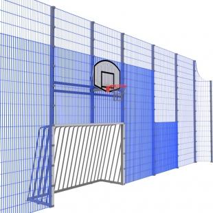 Спортивна Огорожа ТРЄША™ 16х30 (H5х4м) ударостійкий антивандальний комплект з вбудованими модулями воріт