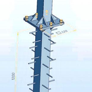 Стрітбол ТРЕША™ 1200х900 мм. (Виліт 1 м) Стенд з регулюванням висот