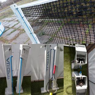 Стійки для великого тенісу ТРЕША™ (з прихованим механізмом натяжки троса)
