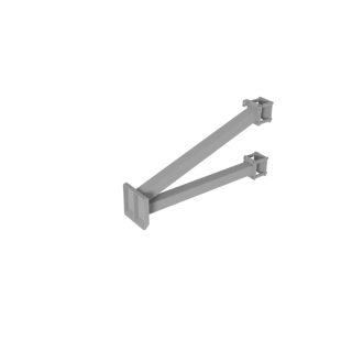 Щит для Стрітбола ТРЕША™ 1200х900 мм. на стовп (виліт 0,8 м)