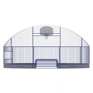 Модульний Спортмайданчик Арена ТРЄША™ Ф-8 м для панна футбола, юки та стрітболу